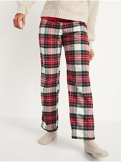 Pantalon de pyjama en flanelle à motifs pour femme