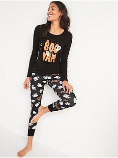 Pyjama à imprimé d'Halloween pour femme