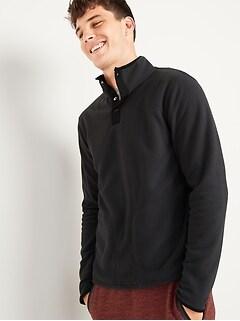 Micro Performance Fleece 1/4-Snap Mock-Neck Sweatshirt for Men