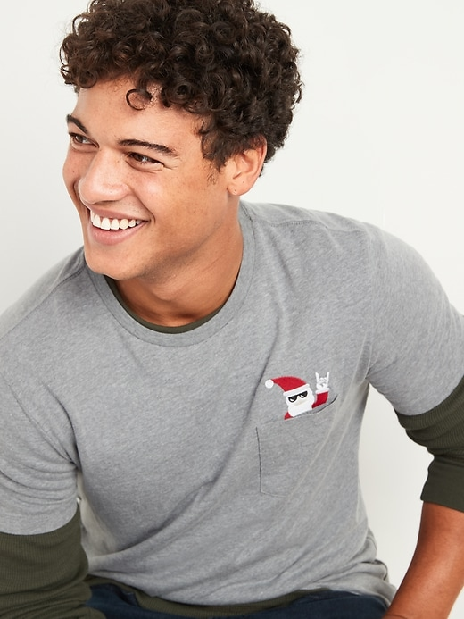 Soft-Washed Pocket Graphic Crew-Neck Tee