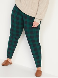 High-Waisted Stevie Secret-Slim Ponte-Knit Plus-Size Printed Pants