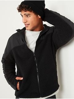 Cozy Sherpa Hybrid Zip Hoodie for Men