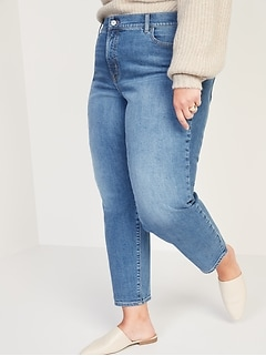 High-Waisted Secret-Slim Pockets O.G. Straight Plus-Size Jeans