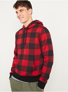 Plaid Pullover Hoodie for Men