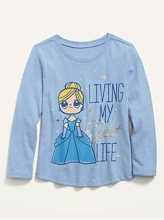 Disney© Princess-Graphic Long-Sleeve Tee for Toddler Girls