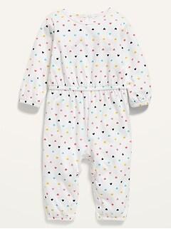 Combinaison à manches longues à imprimé pour bébé