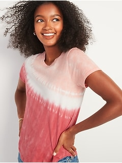 T-shirt à manches courtes tout-aller à motifs pour femme