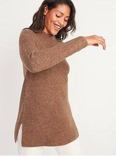 Tunique douillette en tricot texturé pour femme