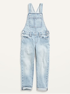 Light-Wash Boyfriend Jean Overalls for Girls