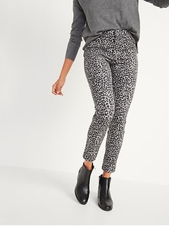 All-New High-Waisted Patterned Pixie Ankle Pants