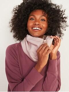Cozy Fleece Neck-Warming Snood for Women