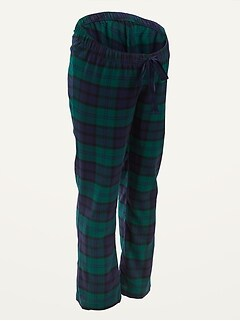 Maternity Plaid Flannel Pajama Pants