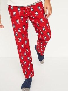 Pantalon de pyjama à imprimé en flanelle pour homme