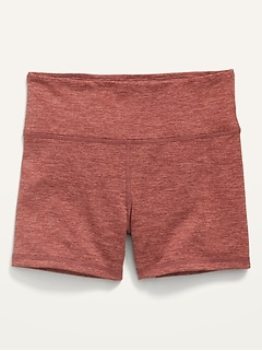 High-Waisted Jersey Biker Shorts for Girls--3-inch inseam