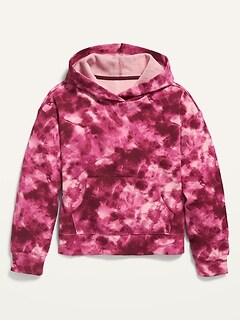 Tie-Dye Pullover Hoodie for Girls