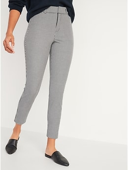 High-Waisted Patterned Pixie Ankle Pants for Women