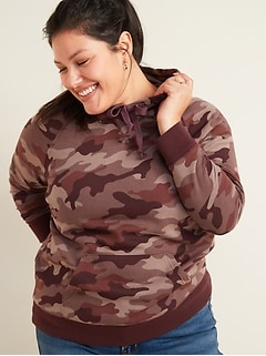 Vintage Plus-Size Pullover Hoodie