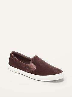 Velvet Slip-On Sneakers for Women