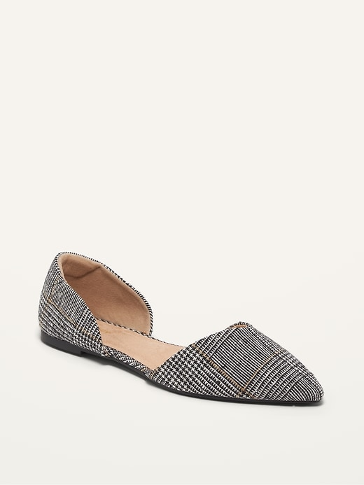 Tweed D'Orsay Flats for Women