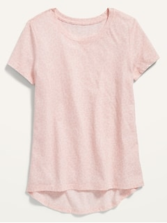 Short-Sleeve Scoop-Neck Tee for Girls