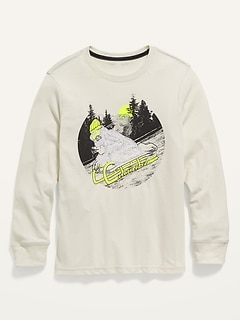 Long-Sleeve Graphic Crew-Neck Tee for Boys