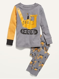 Unisex Graphic Pajama Set For Toddler & Baby