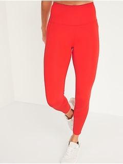 Legging de compression mi-long rehaussant à taille haute avec poches latérales et maille pour femme