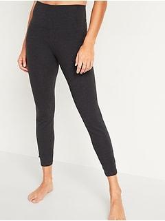 High-Waisted Balance Twist-Hem 7/8-Length Leggings for Women