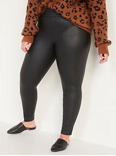 High-Waisted Stevie Secret-Slim Faux-Leather Plus-Size Pants