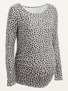 Maternity Plush-Knit Long-Sleeve Top