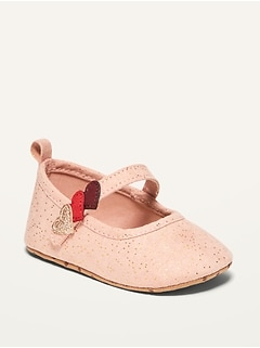 Unisex Valentine's Faux-Suede Ballet Flats for Baby