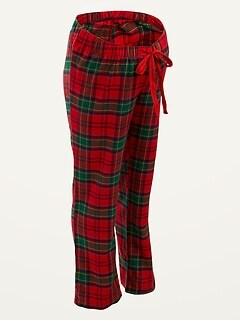 Maternity Plaid Flannel Pajama Pants