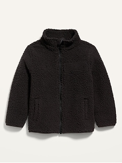 Unisex Mock-Neck Sherpa Zip Jacket for Toddler
