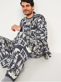 Patterned Flannel Pajama Sets for Men