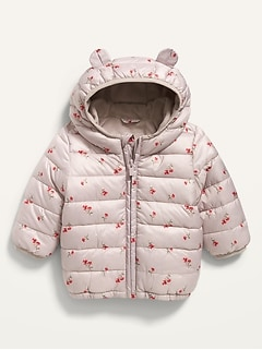 Hooded Frost-Free Floral Jacket for Baby