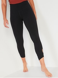 High-Waisted Balance Keyhole-Leg 7/8-Length Leggings for Women