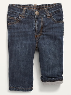 Unisex Cozy-Lined Straight Jeans for Baby