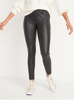 High-Waisted Stevie Faux-Leather Pants for Women