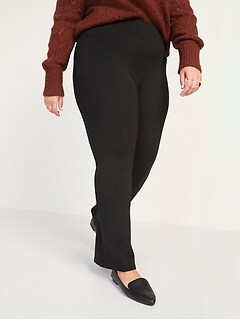 High-Waisted Stevie Plus-Size Boot-Cut Pants