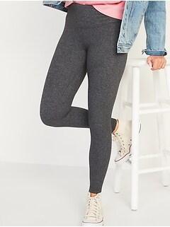 High-Waisted CozeCore Herringbone Leggings for Women