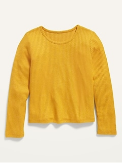 Cozy Rib-Knit Cropped Top for Girls