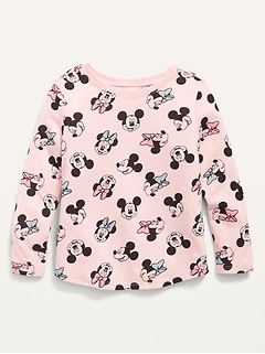 Disney© Mickey and Minnie Mouse Long-Sleeve Tee for Toddler Girls