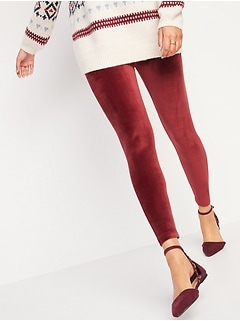High-Waisted Velour Leggings for Women