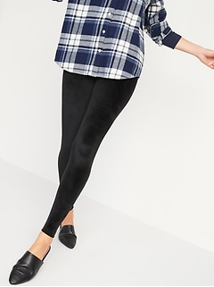 High-Waisted Velour Leggings for Women