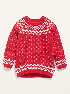 Fair Isle Raglan Sweater for Toddler Girls