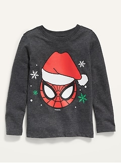 Unisex Marvel Comics™ Christmas-Graphic Spider-Man Tee for Toddler