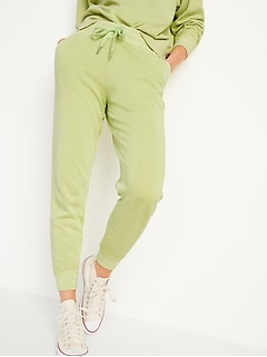 Mid-Rise Tapered Jogger Sweatpants for Women