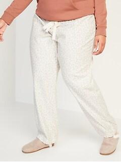 Pantalon de pyjama en flanelle à motifs, taille forte