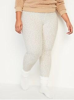 Legging de pyjama en tricot isotherme, taille forte