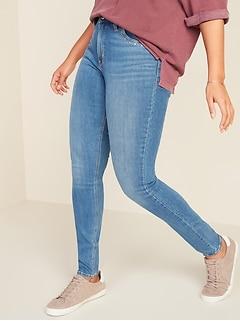 High-Waisted Rockstar Super Skinny Studded Jeans for Women